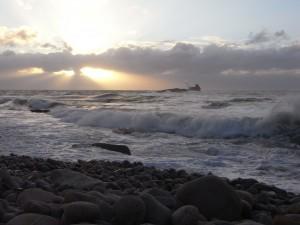 Ile Grande - La côte tournée vers le large