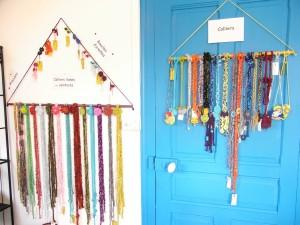 """Présentoirs """"trapèzes"""" pour lianes et colliers"""