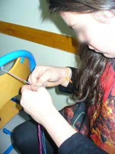 Atelier laine et coquillages Le rire de l'arc-en-ciel