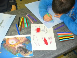 Atelier peinture Marinette le Calvez