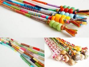 atébas amovibles élastique couleurs perles et coquillages