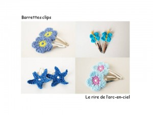 Lookbook barrettes bleues