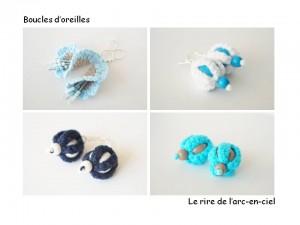 Lookbook boucles d'oreilles bleues