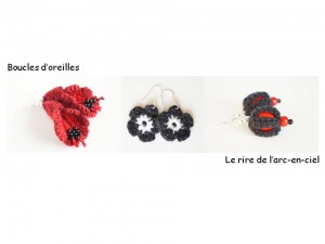 Lookbook boucles d'oreilles rouge et noir