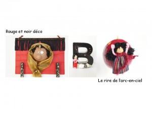 Lookbook décoration rouge et noir