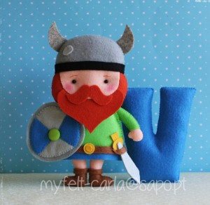 Plaque de porte viking - Myfelt Carla
