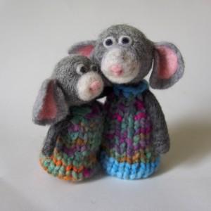 Souris laine feutrée - Atelier Fibriforme