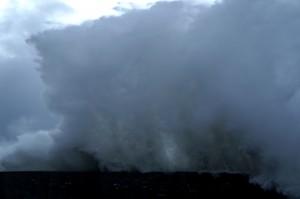 tempête Ile Grande, mur de vague