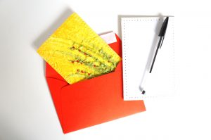 Mini tableau brodé - Carte postale