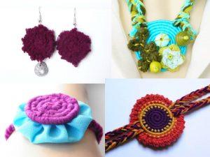 Exemples de créations en vannerie textile spiralée Le rire de l'arc-en-ciel