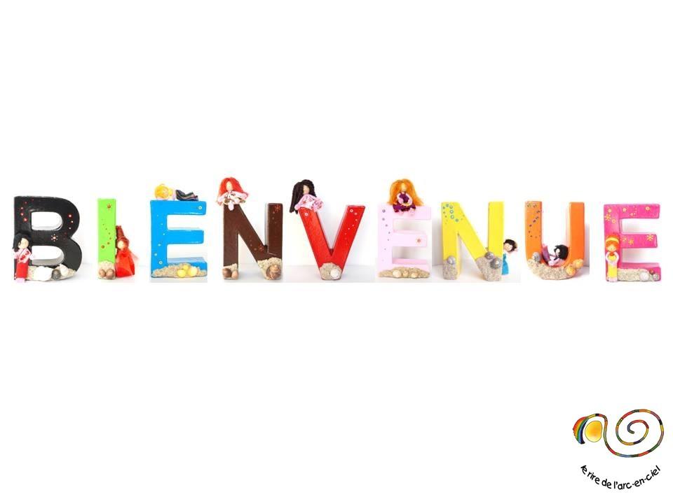 Bienvenue écrit en lettres décoratives