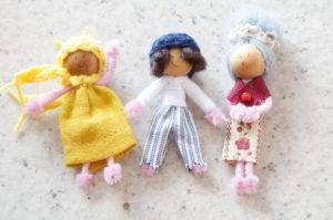 3 poupées pour création