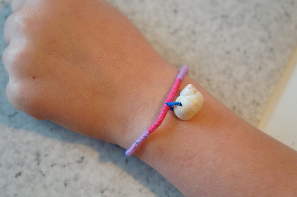 Bracelet réalisé lors d'un atelier